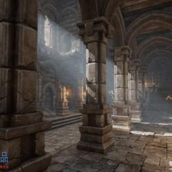 UE4虚幻4超300个高质量游戏场景模型模块化地下宫殿堡垒资源包下载