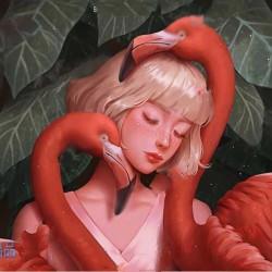 马来西亚画师Karmen Loh的唯美梦幻美少女写实头像原画集