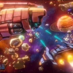 卡通科幻风格太空飞船武器道具角色等资产Unity游戏素材资源