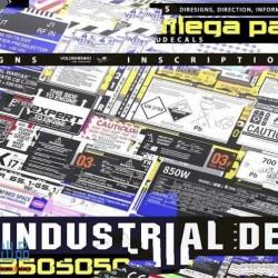 350组工业警告标志指示信息相关贴花贴图合集