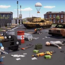 UE4资源 Polygon Battle Royale 多边形Q版战斗人物武器场景