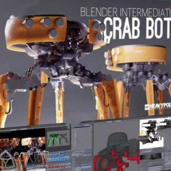 Blender机械人制作超完整工作流大师级视频教程