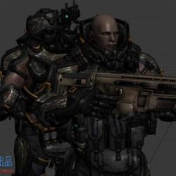 科幻战士模型