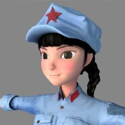 次世代角色抗日战争中国近现代史女红军八路军3D模型