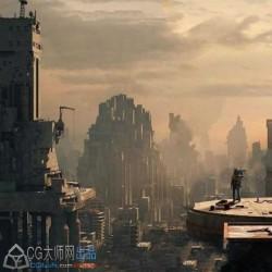 末世废荒凉墟城市超精细完整场景3D模型