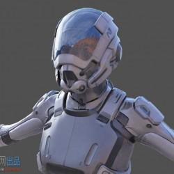 次世代未来科幻女战士